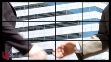 Montage of businesspeople at work — Stock Video