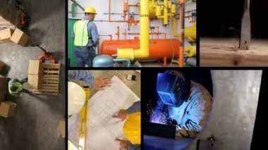 Montage of industrial scenes — Stock Video