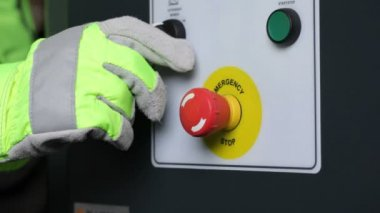 Industrial machinery buttons — Stock Video