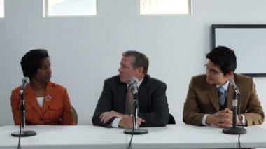 Three motivational speakers — Stock Video