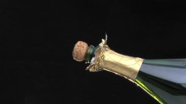Popping champagne cork — Stock Video