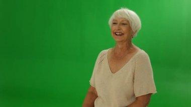 Senior woman laughing — Stock Video