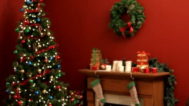 Santa Claus says shhh — Stock Video