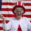 Woman celebrates 4th of July — Stock Video #65621409