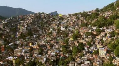 Aerial view of Rocinha — Stock Video