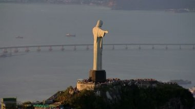 Christ the Redemeer Statue — Video Stock