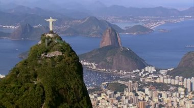 Christ the Redeemer and Sugarloaf — Stok video
