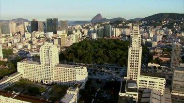Central do Brasil clock tower — Stock Video