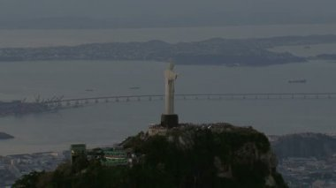 Christ Statue overlooking Rio — Stock Video