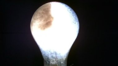 Closeup view of flashbulb — Stock Video