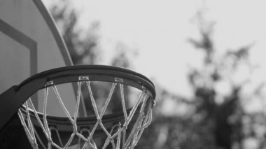 Ball goes into hoop — Stock Video