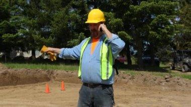 Blue collar worker — Stock Video