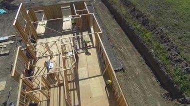 Construction job site — Stock Video