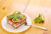 Dessert and kiwi — Stock Photo