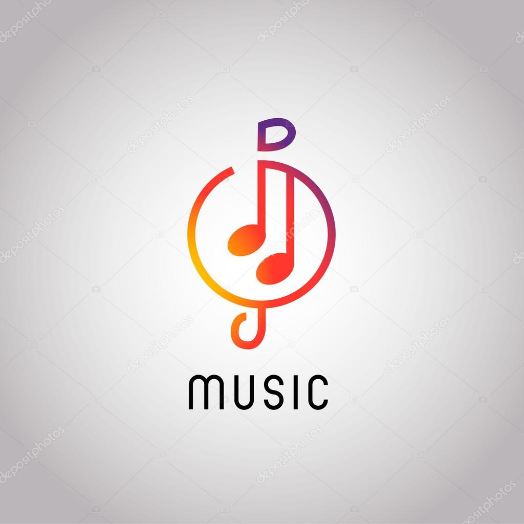Modern Music Logo: Abstract Music, Note Icon Logo Design In Modern Style