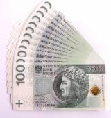 Banknote 100 PLN — Stock Photo