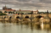 Old and historic Charles Bridge in Prague — Stock Photo