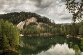 National Park of Adrspach-Teplice rocks. Rock Town. — Stock Photo