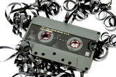 Old and vintage cassette tape isolated — Stock Photo