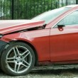 New red luxury car crashed by a drunk driver — Αρχείο Βίντεο #64284339