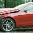 New red luxury car crashed by a drunk driver — Vídeo de Stock #64284339