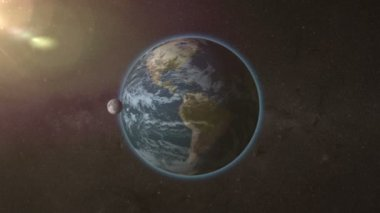 The rotation of the moon in its orbit of the earth, loop animation timelapse — Stock Video