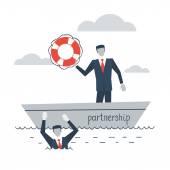 Partnership or insurance concept — Stock Vector
