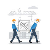 Construction workers — Stock Vector
