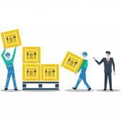 Logistics expert — Stock Vector