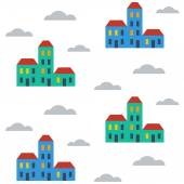 Terraced houses — Stock Vector