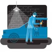 Auto thief — Stock Vector