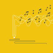 Hudební nahrávka koncept. — Stock vektor
