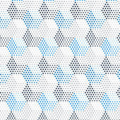 Dotted cubical pattern — Stock Vector