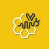 Honey bee  logo. — Stock Vector