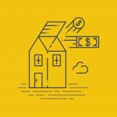 Robbery insurance. Housing expenses. — Stock Vector