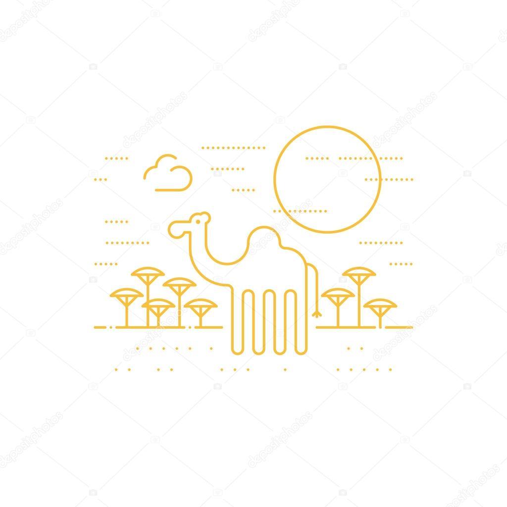 一只骆驼 — 图库矢量图像08