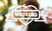 White label. Against the background of the wedding. — Vetorial Stock