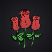 Roses made of paper — Vetorial Stock
