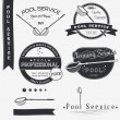 Pool Service. Clean and Repair. Set of Typographic Badges Design Elements, Designers Toolkit. — Stock Vector #67410899