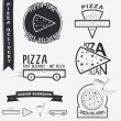 Pizza delivery. The food and service. Set of Typographic Badges Design Elements, Designers Toolkit. — Stock Vector #67973377