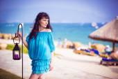 Girl on the beach — Stock Photo