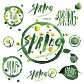 Spring Typographic Design — Stock Vector