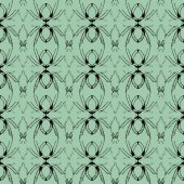 Black web on a green background seamless texture — Wektor stockowy
