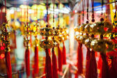 Lucky lantern decoration lunar new year in Asia — Stock Photo