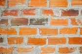 Фон стены из красного кирпича — Стоковое фото