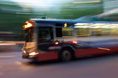 Motion Blur of City Bus — Stock Photo