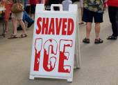 Shaved Ice Poster Sign — Stock Photo