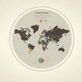 Infografics — ストックベクタ