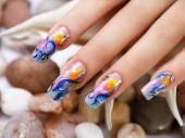 Sea nails design. — Stock Photo