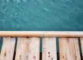 Mesa e mar céu — Fotografia Stock